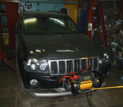 Установка съемной лебедки на Jeep Cherokee Limited 5.7