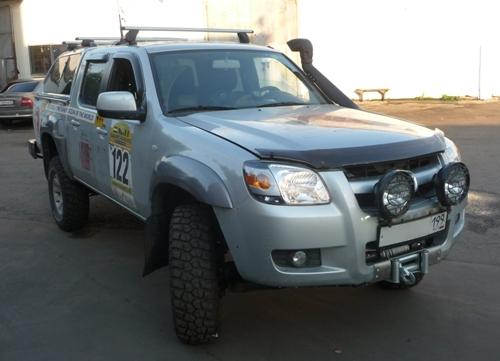Установка лебедки под бампер на Mazda BT-50