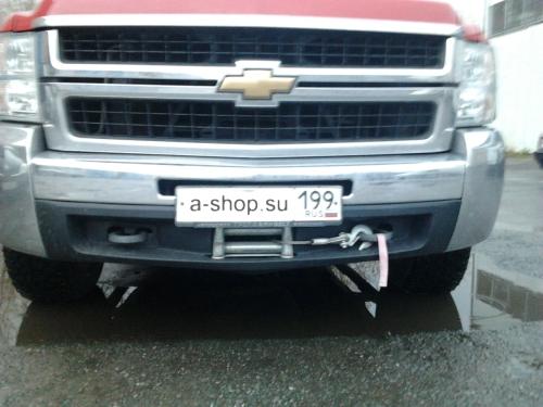 Скрытая установка лебедки (под бампер) на Chevrolet Silverado