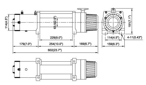 Автомобильная электрическая лебедка Come up DV-9 (9000) 12V
