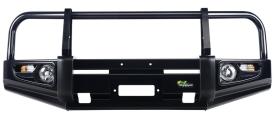 Бампер передний Ironman Ford Ranger 07- черный с доп оптикой BBCD014